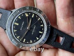 1965 Bulova Accutron GMT Astronaut 214 Original Black Dial M5 Tuning Fork RUNS