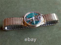 1966 Vintage 10k GF Accutron Spaceview Mans Watch Bulova M6 214 Tuning Fork Runs