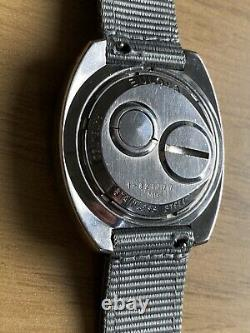 1969 Bulova Accutron Spaceview Watch 38mm tuning fork bracelet nylon strap