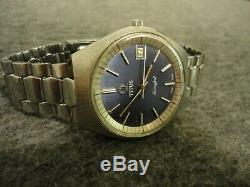 1970s TITUS TUNING FORK MENS BLUE DIAL WATCH F300Hz EXCELLENT COND. WithNEW BATT