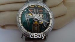 1971 Vintage Bulova Accutron 214 Spaceview Stainless Steel Tuning Fork Watch