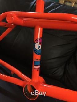 1989 GT Pro Freestyle Tour Frame Set GT Frame GT Fork Old School GT BMX dayglo