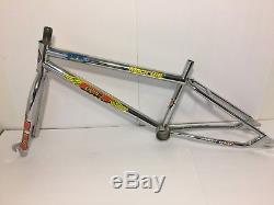 1993 GT Mach One BMX Bicycle Frame Fork Chrome 4130 Cr-Mo USA Old School Bike
