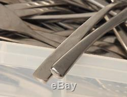 220 Pieces 18/10 Stainless Steel Cutlery 120 8 Starter/Dessert Knife 100 Forks