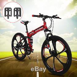 26'' Folding Mountain bike Magnesium Wheels Lock Out Forks 21 Shimano Gears MTB
