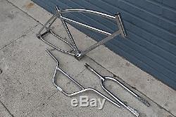26 bmx cruiser chrome frame fork bar set vintage retro