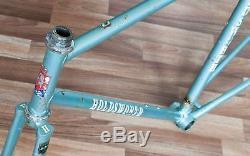 55cm REYNOLDS 531 HOLDSWORTH ELAN VINTAGE STEEL ROAD RACING BIKE FRAME & FORKS