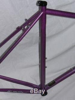 56 / 58cm Surly Straggler Gravel CX steel bike frame & fork purple 700c