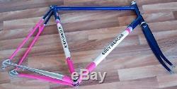 59cm EDDY MERCKX MX-LEADER TEAM TELEKOM STEEL ROAD RACING BICYCLE FRAME & FORKS