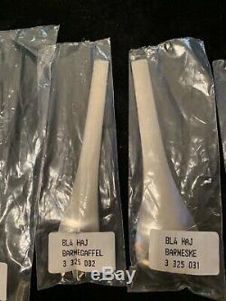 5 Pieces Georg Jensen Denmark Blue Shark Fork Knife Spoon Stainless Flatware MCM
