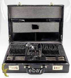 73 Pieces Rostfrei Princess Flatware Set with Presentation Briefcase