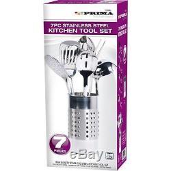 7pcs Stainless Steel Kitchen Cooking Tool Utensil Set Spoon Fork Ladle Turner Bn