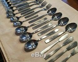 Amboss Helmut Adler Modern 26pc Spoons Fork Butter Knives Flatware Austria