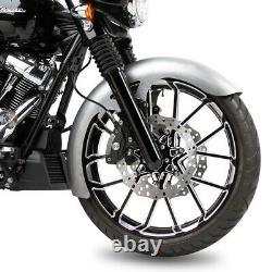 Arlen Ness 60-703 Rapper 180 Fat Fender with Black Fork Boots 96-13 Harley Touring