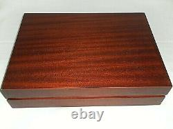 Arthur Price International WOODEN CUTLERY BOX With Cutlery Used 56 Piece