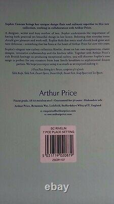 Arthur Price Sophie Conran Stainless Steel 58 Piece Cutlery sets (for 8 persons)