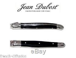 Authentic Laguiole Dubost CUTLERY set 25/10 BLACK (4 to 12 people) from France