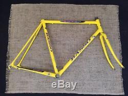 Basso Gap 1990s Road Bike Frame Fork Frameset 700c 56cm Yellow