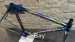 Battaglin Columbus Brain steel road bicycle frameset 48 50 51 cm frame fork VGC