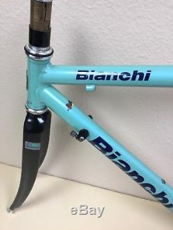 Bianchi Alloro Frame 50 CM Aluminum Tubes Carbon Fork Campagnolo Bracket