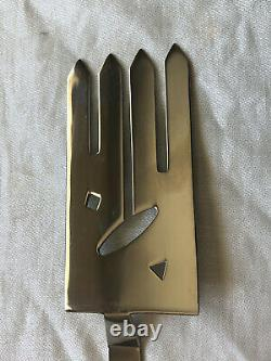 Bissell & Wilhite Xum Pattern Stainless Steel Serving Fork and Spoon Salad Set