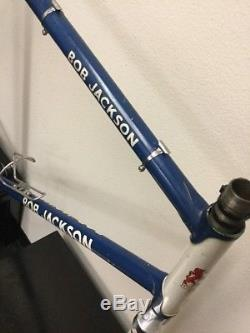 Bob Jackson Frame And Fork 59 CM Reynolds Tubing Campagnolo Dropouts Bb