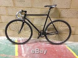 Bombtrack track/fixed/SS 725 steel bike frame & Carbon forks