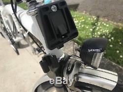 Brompton Bike M3l In White Dynamotitanium Forksworldwide Postage