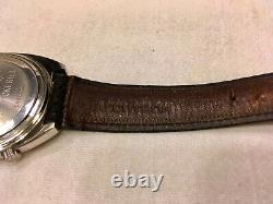 Bulova 2181 Accutron N4 Tuning Fork Watch Running Signed Lizard Strap And Buckle