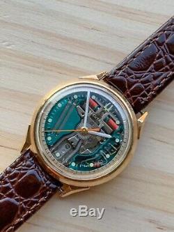 Bulova Accurtron Spaceview 214 Vintage Tuning Fork Hum Mens Wristwatch m5 10k GF