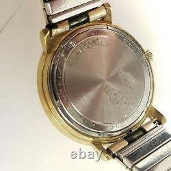 Bulova Accutron Day Date N4 Gold Electroplated Back Men's Fork Watch