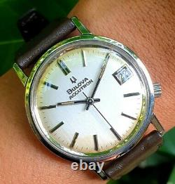 Bulova Accutron M8 Tuning Fork Cal. 218D Stainless Steel Mens Gents Swiss Watch