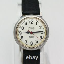 Bulova Accutron Railroad Approved 214 Tuning Fork 1973 Steel Quartz Wristwatch