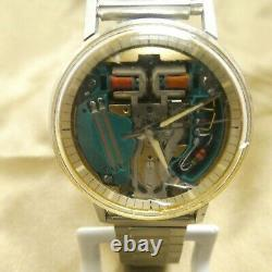 Bulova Accutron Space View Tuning Fork 214 Stainless Steel Mens Watch