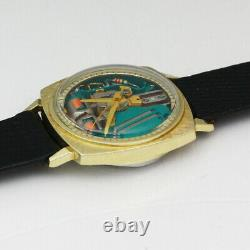 Bulova Accutron Spaceview 214 Tuning Fork M9 33mm Two Tone Quartz Wristwatch