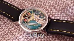 Bulova Accutron Spaceview 35mm M4 1964 Tuning Fork Stainless Steel