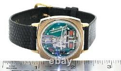 Bulova Accutron Spaceview rare vintage gold tone tuning fork men's watch