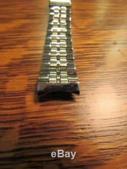 Bulova Accutron Stainless Steel Tuning Fork Watch Band NOS 17mm 11/16 18mm MENS