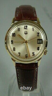 Bulova Accutron Tuning Fork (218 D) 34mm 14K-Y Gold 16.5 Gram Made in USA Watch