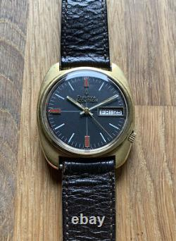 Bulova Accutron Tuning Fork Black Dial Vintage Gent's Watch