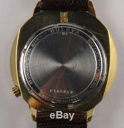 Bulova Accutron Tuning Fork Cal 2181 Date Men's Watch N3