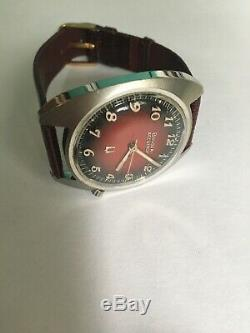 Bulova Accutron Vintage Tuning Fork Watch 1973 Red Tuxedo Dial cal. 2182 movement