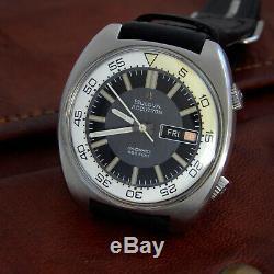 Bulova Vintage 1970 Accutron Deep Sea / Snorkel Compressor Diver Cal 2182 Fork