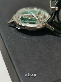 Buluva Accutron 214 Stainless silver M7 SPACEVIEW Tuning Fork watch