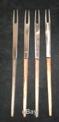 CARL AUBOCK 4 Fondue Forks Amboss Carl Aubock Mid Century Modern Made in Austria