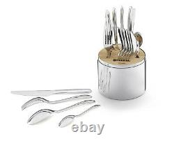 CHRISTOFLE ESSENTIAL STAINLESS 24 PIECE S/6 SET With CAPSULE #2406299 BRAND NIB FS