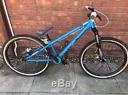 CUSTOMISED DMR Reptoid Jump Bike Dirt DJ Bike BLUE Marzocchi DJ 3 Forks 26