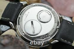 C. 1964 BULOVA ACCUTRON Astronaut 214 Tuning Fork GMT Stainless Steel Watch
