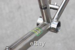 Chrome Steel 700c Road Bike Frame Fork Cyclocross Classic 56cm 4130 Heat Treat