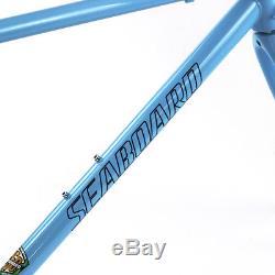 Chrome Steel Frame Carbon Fork Road Bike 700C Classic 4130 Heat Treating 53cm